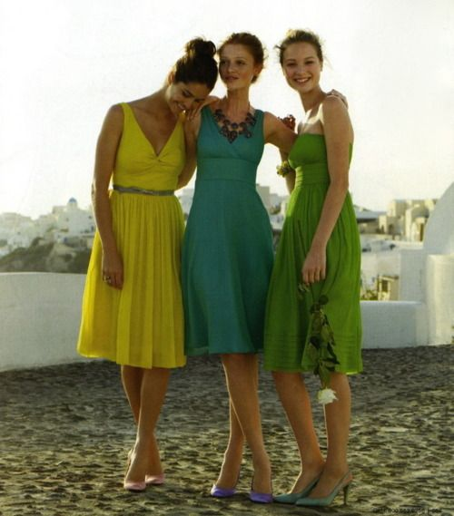 : Ties Shoes, Summer Dresses, Rainbows Dresses, Style, Spring Bridesmaid, Rainbow Dresses, Blue Bridesmaid Dresses, Summer Colors, Blue Bridesmaids