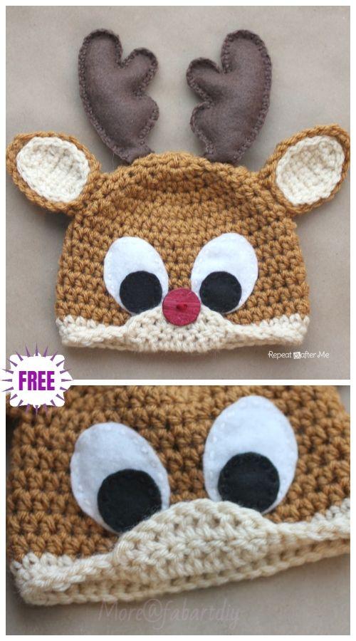 Diy Crochet Baby Animal Hat Patterns Mütze Häkeln Pinterest