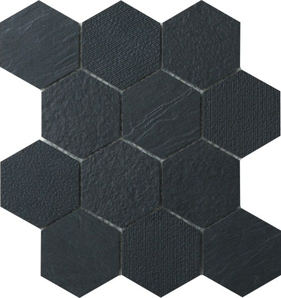 "TEX-HEX CHARCOAL 3"" HEX MOSAIC  FULL COMMERCIAL AND RESIDENTIAL CONTEMPORARY HEXAGON TILES  Pacific Freedom Tex-Hex is an unglazed thru body 3 inch hexagon porcelain tile with a range of contemporary colours. This hexagon can be used in full commercial and residential purposes."