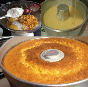 Experimente o delicioso e prático de Bolo de Milho de Liquidificador!