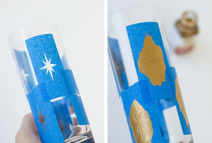DIY PROJECT: MID-CENTURY MODERN STYLE STARBURST COCKTAIL GLASSES