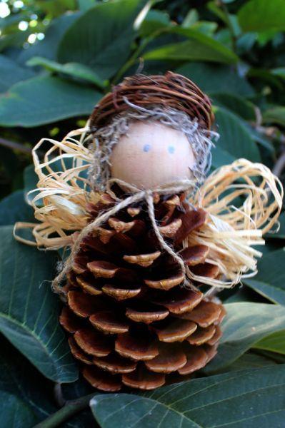 Pine Cone Angels. Handwork craft