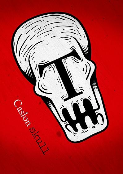 Caslon Skull