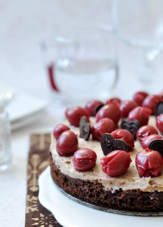 Gesztenyés-meggyes last minute torta   Csak a Puffin #cake #dessert #fruits