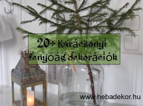 Karácsonyi fenyőág dekoráció