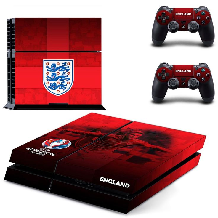 england national football team ps4 skin decal for console and controllers