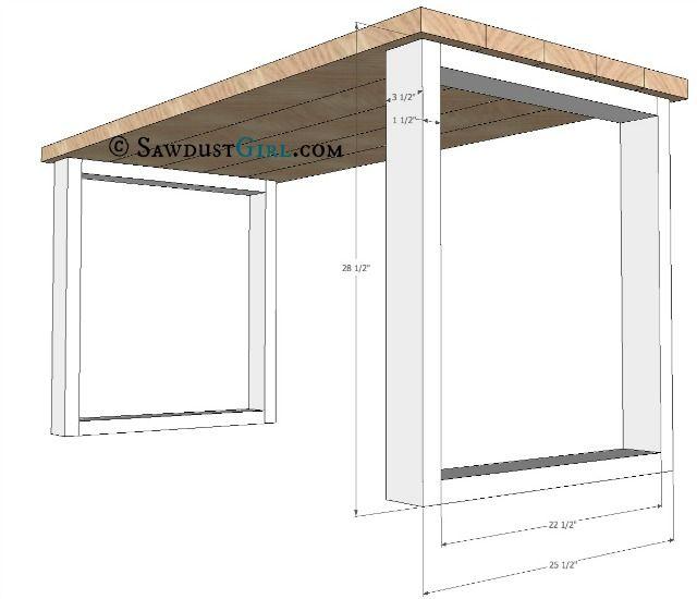20 build a desk ideas on pinterest diy office desk basement office