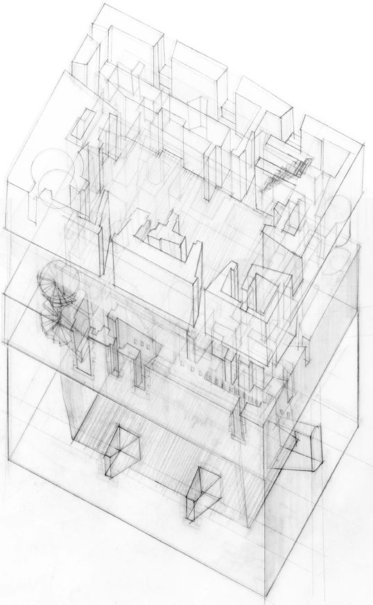 1000 images about architecture axonometric drawing on for Architektur axonometrie