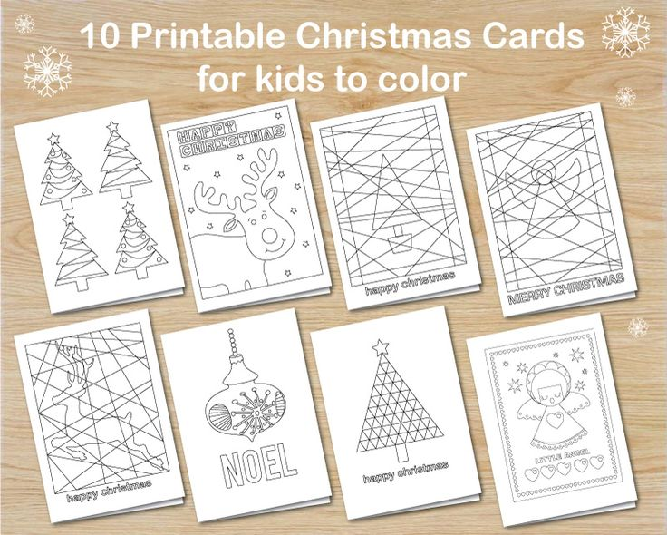 get creative and make your own christmas cards - 10 templates to download and decorate