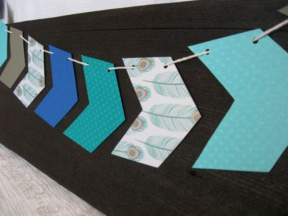 Chevron Arrow Paper Banner by littleseaweeds on Etsy