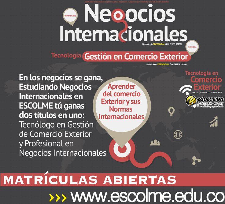 El negociador internacional de ESCOLME Aprenderá del comercio exterior  y sus normas internacionales. Cliquéame para inscribirte http://bit.ly/1SrJ8MK o ingresa a www.escolme.edu.co Matrículas abiertas