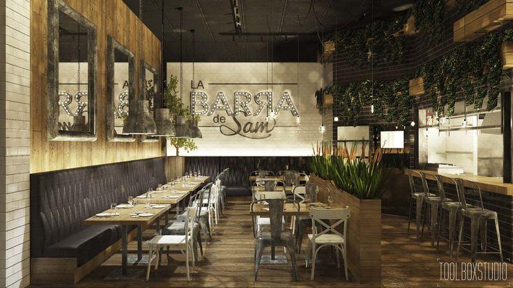 Dise o de interiores restaurantes barcelona dise o de - Diseno de interiors ...