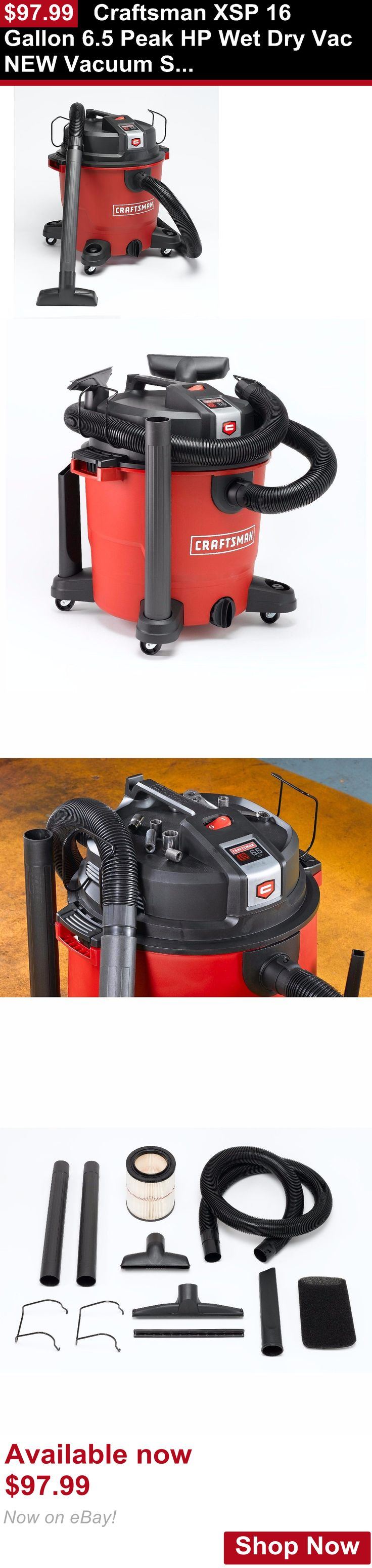 Telescope Eyepieces And Lenses: Craftsman Xsp 16 Gallon 6.5 Peak Hp Wet Dry Vac New Vacuum Shop Cleaner BUY IT NOW ONLY: $97.99