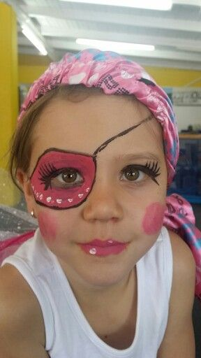 Girl pirate face paint