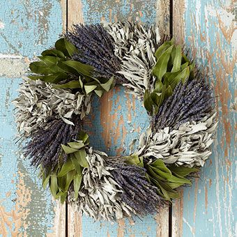 Stone Walk Kitchen Herb Beauty Dried Flower Wreath // Swede Cottage Farm <3 this //