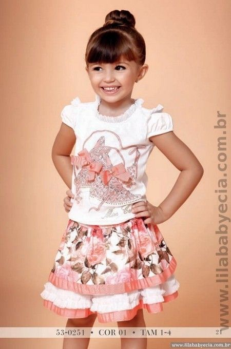 Conjunto Blusa Com Saia Miss Cake Moda Infantil 530251