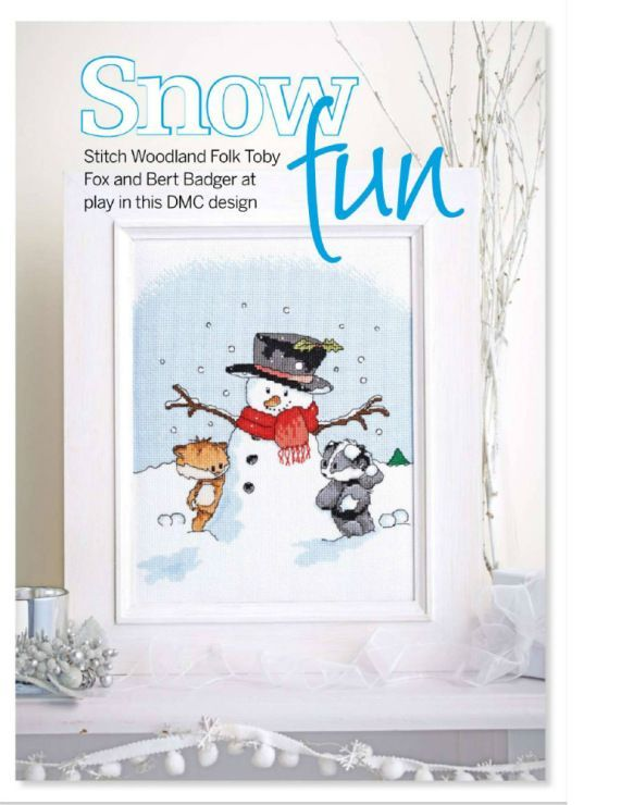Woodland Folk Snow Much Fun Cross Stitch Collection Issue 230 December 2013 Saved