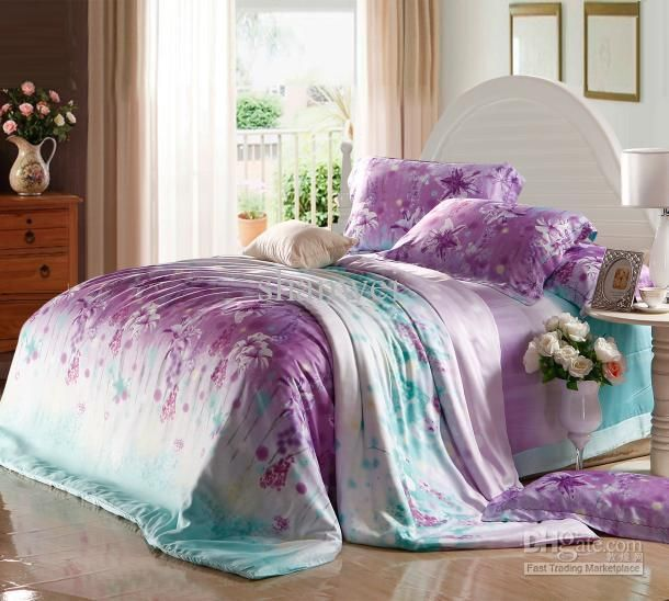 61 best related pins images on pinterest purple bedding for Purple teal bedroom