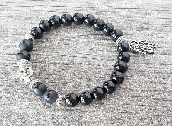 Natural Black  Obsidian Gemstone Bangle Sterling Silver Bangle Gemstone Silver Bangle Silver Gemstone Bangle Black  Obsidian Bangle