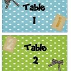 These table number labels help you and the students remember their table numbers, and display them for guests and substitute teachers!...
