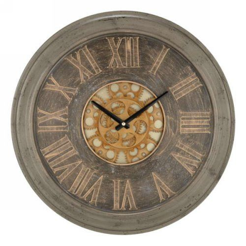 Large brown trim wall clock