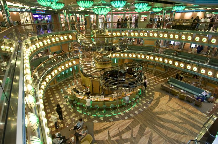 Carnival Magic atrium.  Carnival, take me away!