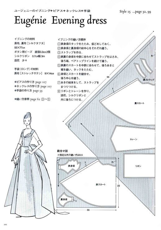 Eugenie Evening Dress Pattern - Page 2 of 3