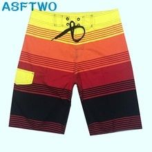 Fast Dry Polyester Surf Shorts Mens Bermuda Printed Seaside Shorts Giant Measurement Wholesale 2019 Information