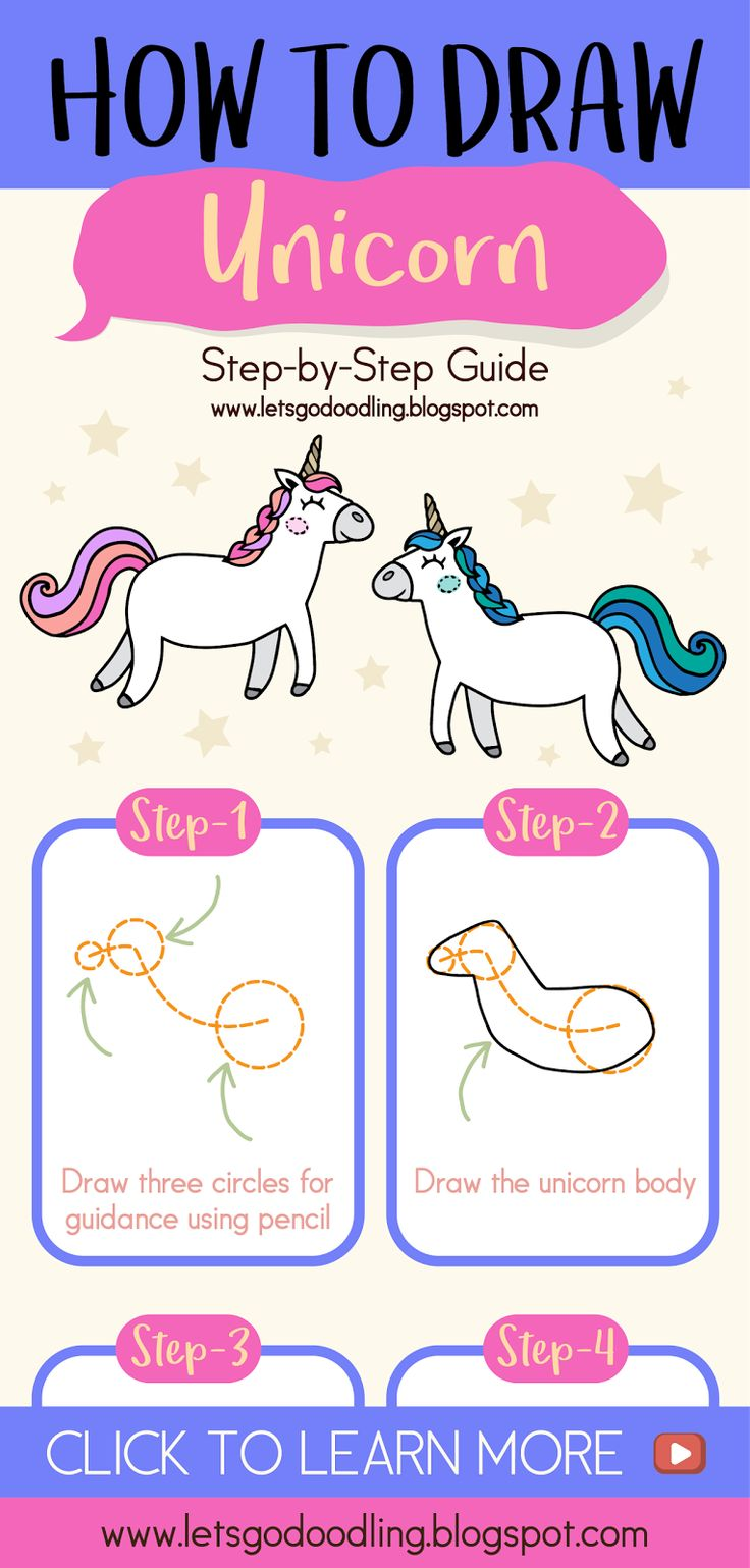 How to draw a horse step by step easy for kids - photo#40
