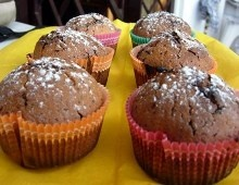 La #ricetta dei muffin di zucca-cioccolato al profumo di cannella! happy #halloween