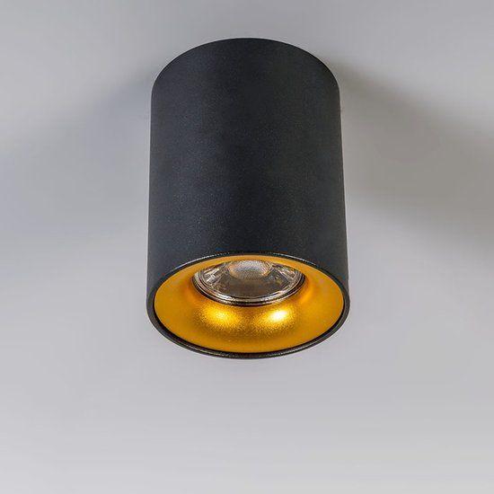 Ronda - Plafond spot - 1 lichts - 80 mm - zwart