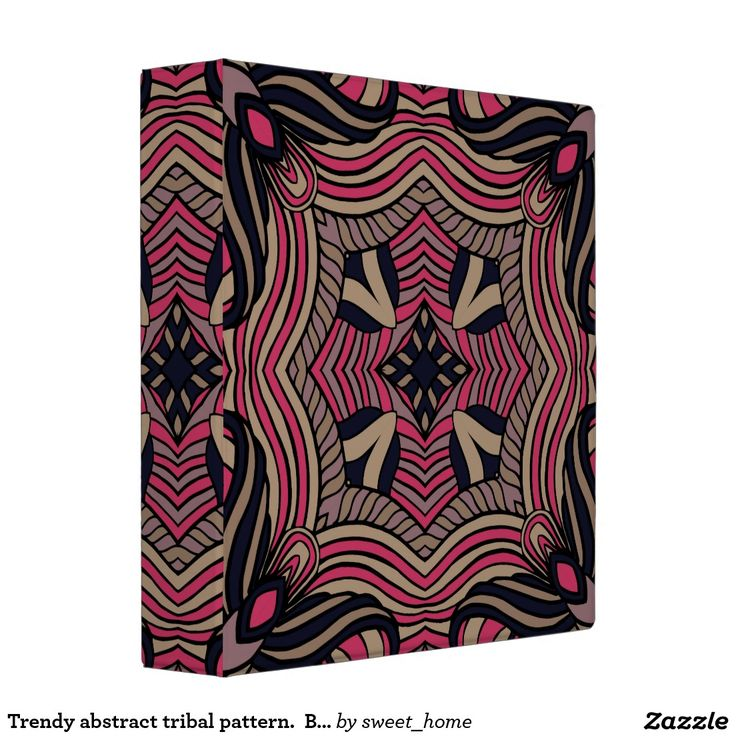 Trendy abstract tribal pattern.  Brown and pink. 3 Ring Binder  For home design and decor. Beautiful home accessories ideas. Luxury elegant style.