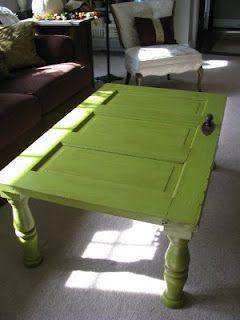 Trash to Treasure DecoratingCoffe Tables, Ideas, The Doors, Coffee Tables, Doors Tables, Living Room, Wooden Doors, Old Doors, Diy