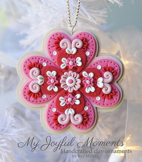 Handcrafted Polymer Clay Ornement