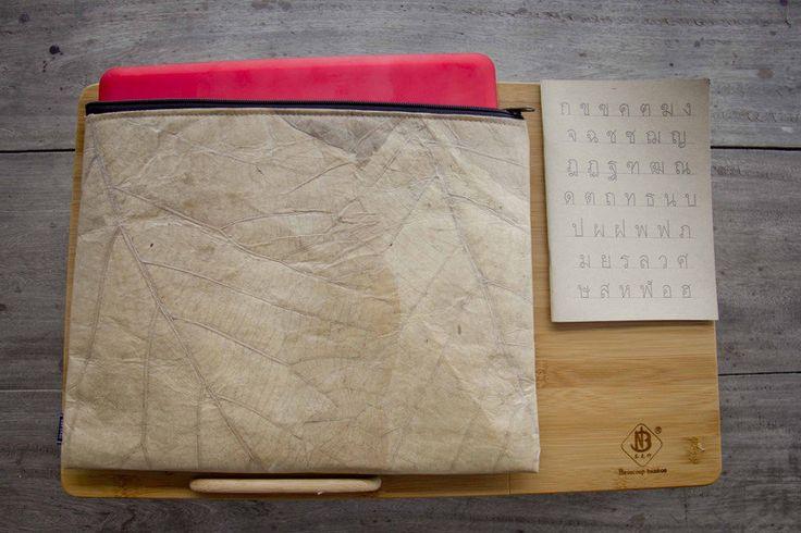 Real Leaf Laptop case 13 -14 inch (Brown), Laptop Hülle aus Blättern, Notebook Tasche 13 - 14 Zoll, wasserabreisend by ByCopala on Etsy