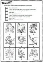 Lire des phrases simples, comprendre, images, inférences, lecture, Cp, Ce1, qui l'a dit, associer une phrase à un dessin