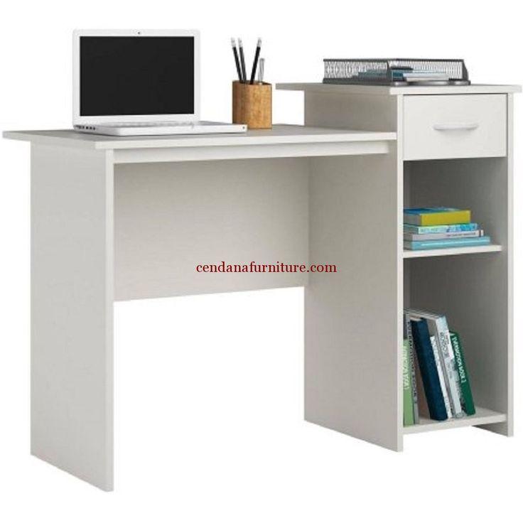 Meja Komputer Minimalis Duco Putih