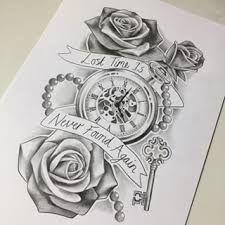 Taschenuhr bleistiftzeichnung  73 besten relógio desenho Bilder auf Pinterest | Tattoo-Designs ...