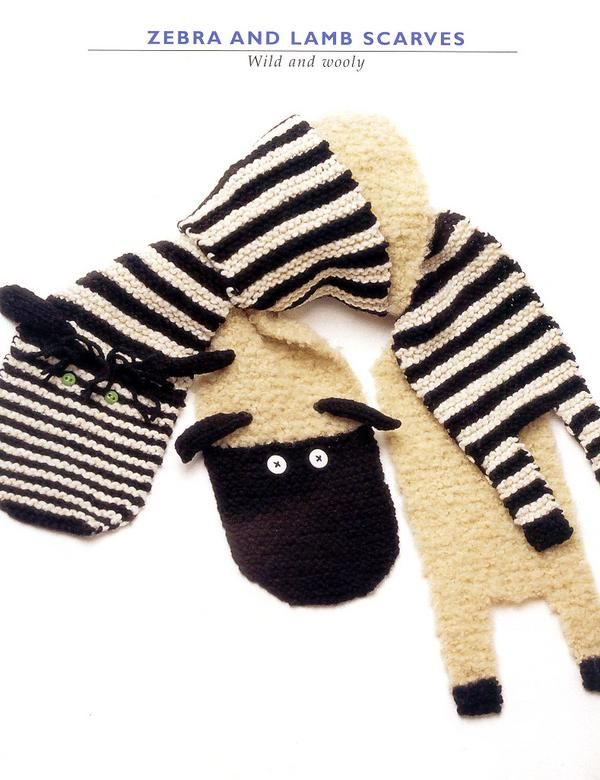 Zebra and Lamb Scarves Two. - free