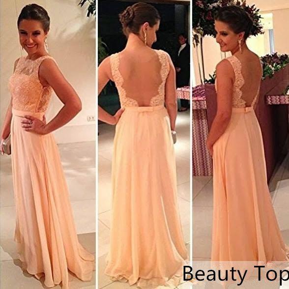 Lace Wedding Dress Chiffon Prom Evening By Beautytop 169 00