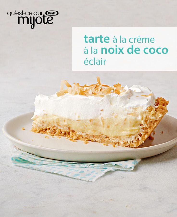 En 15 min de prép., vous pouvez créer une tarte à la crème à la noix de coco. Incroyable, mais vrai ! Cliquez pour voir cette #recette rapide, qui ne demande que quelques ingrédients.