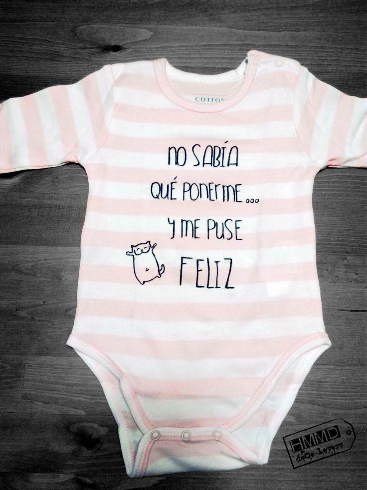 Body personalizado. Regalo original recién nacido. Frases alegres para niños by Handmademaniadecor HMMD.
