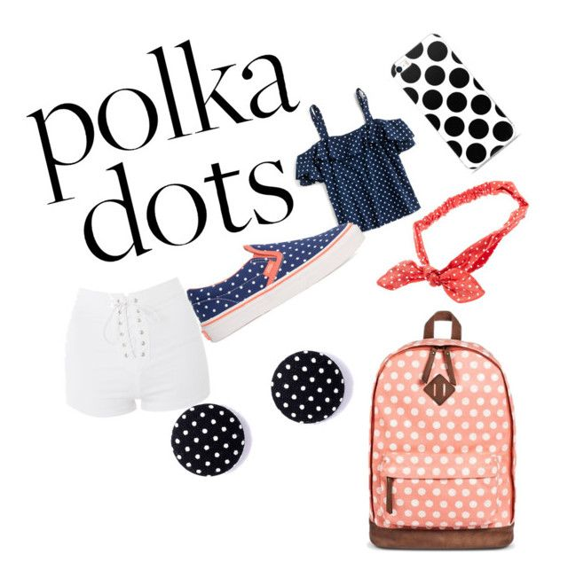 """Polka dots"" by fayemcgrath ❤ liked on Polyvore featuring J.Crew, Topshop, Vans and Mossimo Supply Co."