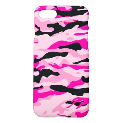 Pink Camouflage iPhone 8/7 Case - outdoor gifts unique cyo personalize