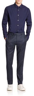 Zaine Slim-Fit Silk & Wool Trousers