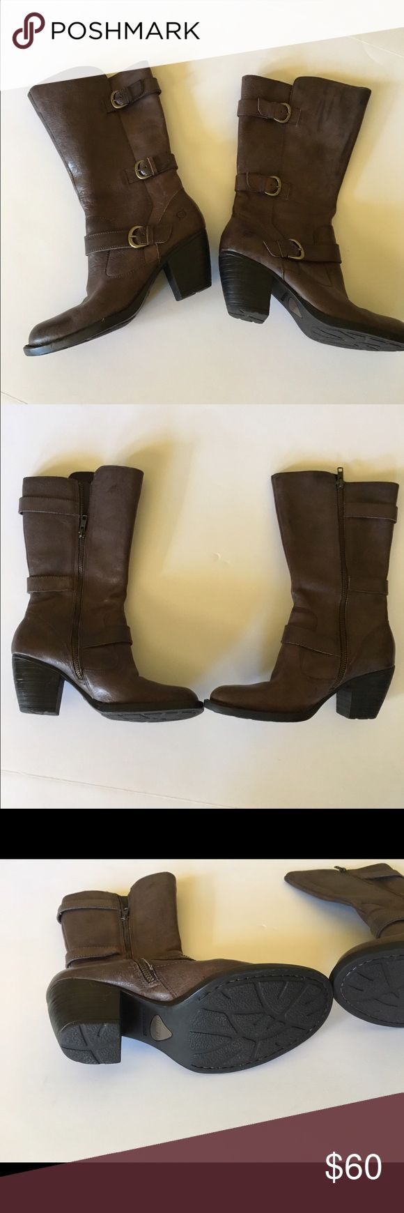Born boots Born gray boots. Size 7 1/2. I purchased these new at Dillards.  They have never been worn. I should have purchased a larger size as I would like to wear thick socks with them. Selling so I can re-purchase in a larger size. Born Shoes Heeled Boots