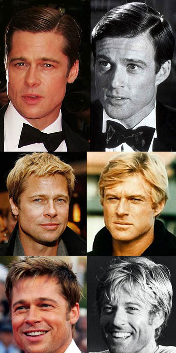 Brad Pitt & Robert Redford. Two dreamboats that, at times, have a strong resemblance... - I always thought so! ESPECIALLY when they worked together in Spy Game. River Runs Through It was good too...(But Redford will always be better in my book.)