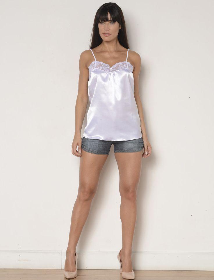 Blusa feminina em Cetim de seda- AH03 :: RMD Lingerie