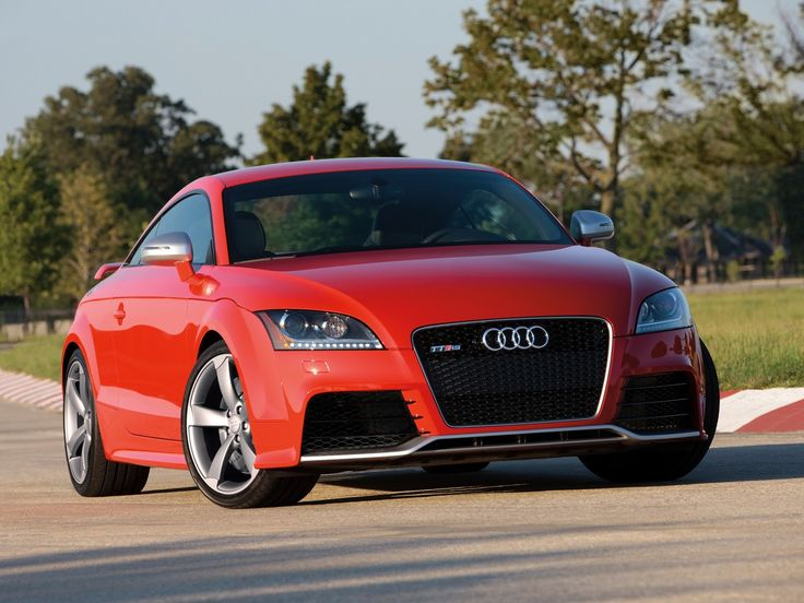 2012 Audi TT RS Coupe, red car, front, wallpapers