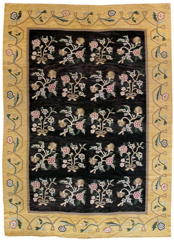 """Antique Bessarabian rug. Size 7' 02"""" x 10' 02"""", made in E. Europe. At Mansour"""